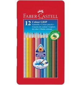 Faber Castell Faber Castell GRIP metalen etui a 12 stuks kleurpotloden