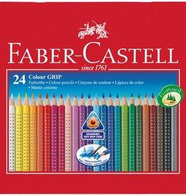 Faber Castell Faber Castell GRIP metalen etui a 24 stuks kleurpotloden
