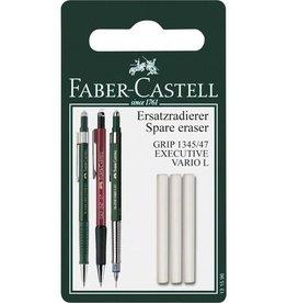 Faber Castell Faber Castell GRIP 1345/1347 3 stuks op blister reservegum