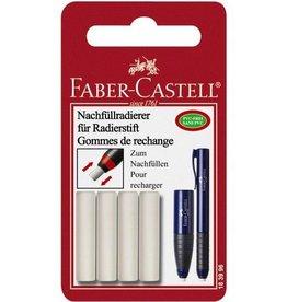 Faber Castell Faber Castell navulgum voor gumstift 184400, 4 stuks op blister