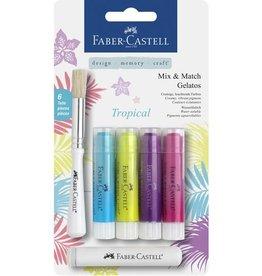 Faber Castell Faber-Castell Gelatos aquarelkrijt 4 kleuren Tropical
