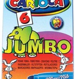 Carioca Carioca viltstift Jumbo Superwashable 6 stiften in een kartonnen etui