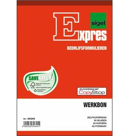 Sigel Sigel Expres werkbonblok A5 zelfkopierend 2x50 blad