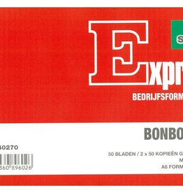 Sigel Sigel Expres bonboekje A6 met carbon blok a 3x50 blad