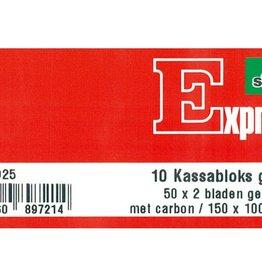 Sigel Sigel Expre kassablok s met carbon 150x110mm 2x50 blad grijs