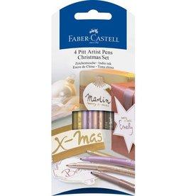 Faber Castell Faber-Castell Pitt 4 Artist pens Christmas Set
