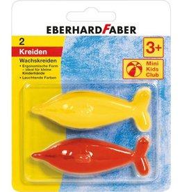 Eberhard Faber Eberhard Faber waskrijt vorm dolfijn 2 stuks assorti