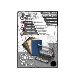 ProfiOffice ProfiOffice schutbladen A4 230gr. karton 20 stuks leer zwart