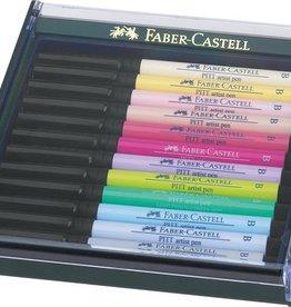 Faber Castell Faber Castell Pitt Artist set 12 stuks pastel Pen Brush