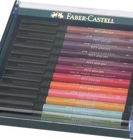 Faber Castell Faber Castell Pitt Artist Pen Brush tekenstift set 12 stuks Earth Tones