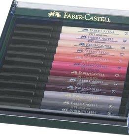 Faber Castell Faber Castell Pitt Artist Pen Brush set 12 stuks Skin
