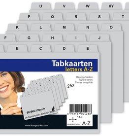 Kangaro Kangaro tabkaart A-Z PP 300mµ grijs 130x80/90mm