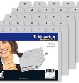 Kangaro Kangaro tabkaart  A-Z PP 300mµ grijs 235x170/180mm