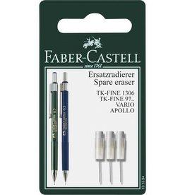 Faber Castell Faber Castell reservegum met reinigingsnaald set a 3 stuks