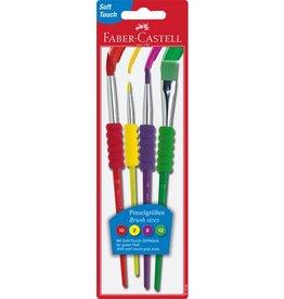 Faber Castell Faber Castell penselenset plastic 4 stuks
