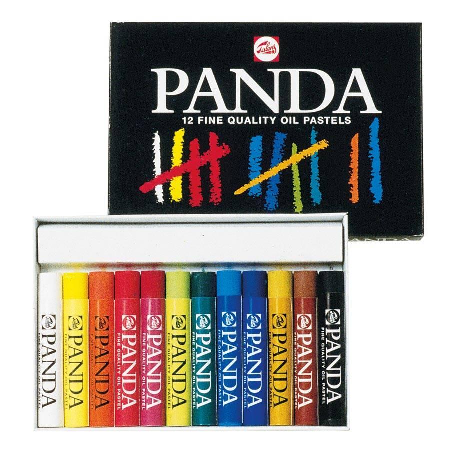 Talens Talens Panda oliepastel, doos van 12 pastels