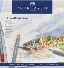 Faber Castell Faber-Castell aquarelkleurpotlood  Goldfaber etui 24 stuks