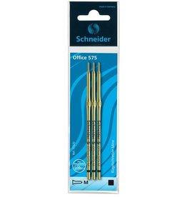 Schneider Schneider balpenvulling Office 575 M 3 stuks op blister zwart