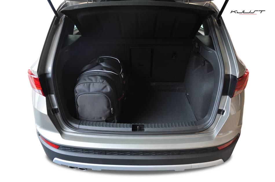 ma gefertigtes reisetaschen set f r seat ateca. Black Bedroom Furniture Sets. Home Design Ideas
