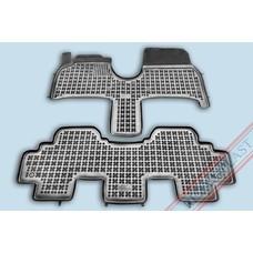 Rezaw Plast Gummi Fußmatten für Peugeot 807 / Citroen C8 / Fiat Ulysse / Lancia Phedra