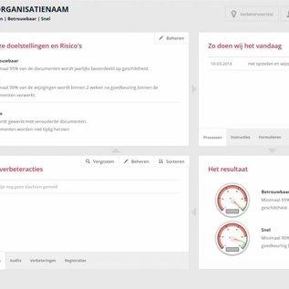 ISO 9001 software met ISO 9001 documentatie 4-10 gebruikers