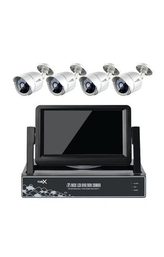 YubiX YubiX Bewakingscamera systeem met 4 Camera's en LCD Monitor