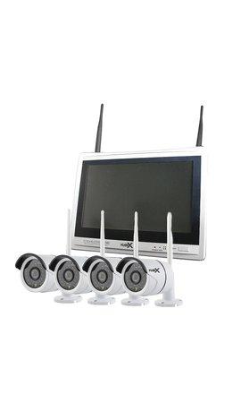 YubiX Camera systeem compleet Wifi draadloos met 12 inch monitor