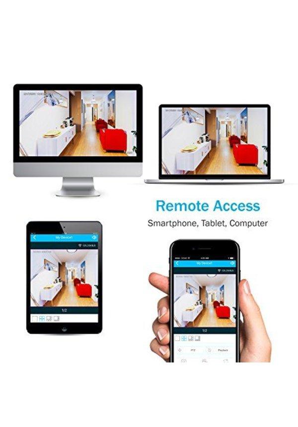 YubiX Bewakingscamera systeem met 4 Camera's en LCD Monitor