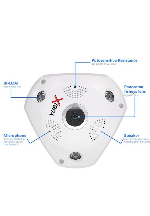 Panoramische draadloze 360 IP bewakingscamera 5MP