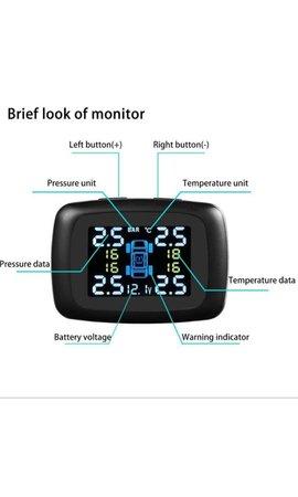 YubiX YubiX auto ventieldopjes draadloos incl. 4 sensoren