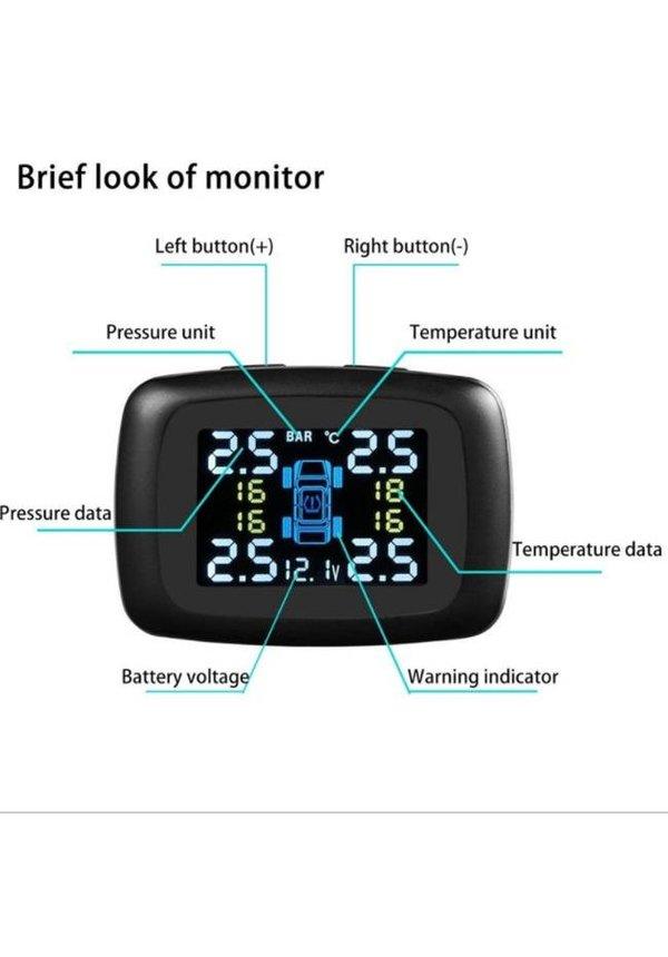 YubiX auto ventieldopjes draadloos incl. 4 sensoren