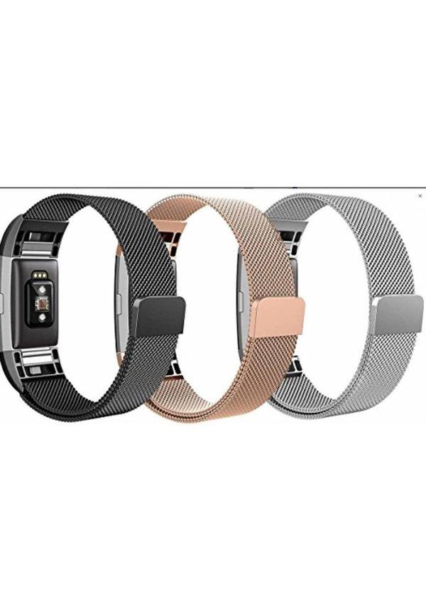 Milanees bandje voor Fitbit Charge 2