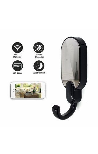 JustCompare Kapstok met verborgen Wifi spionage camera