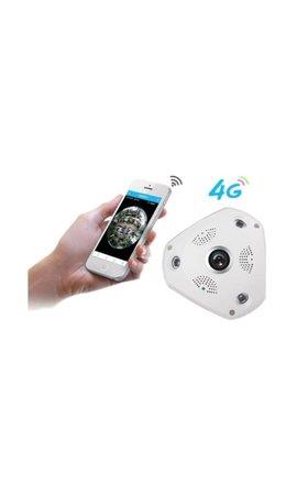 YubiX 3G / 4G Simkaart  IP CAMERA Fisheye 360°