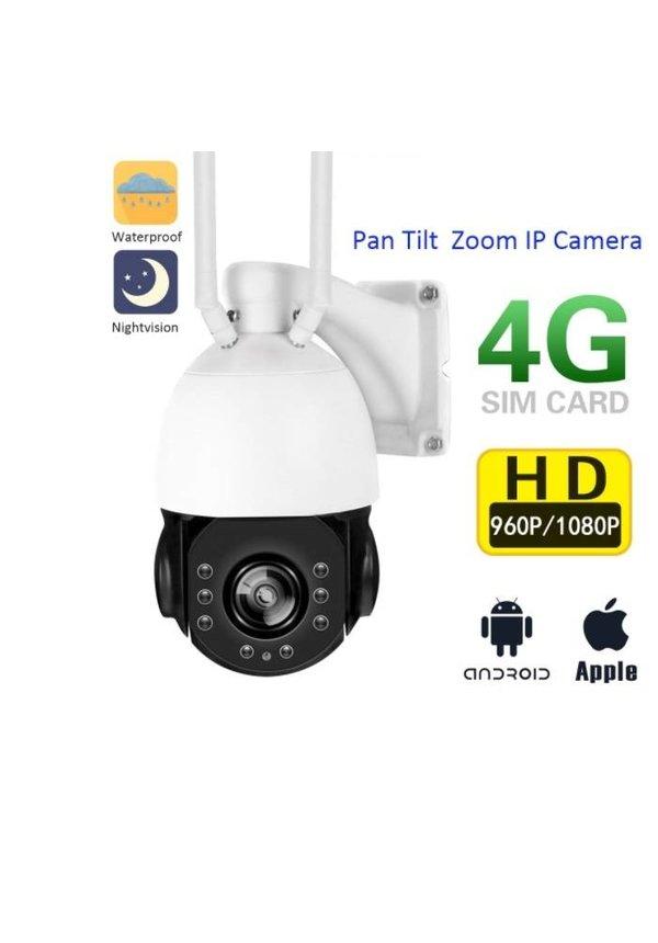 3G / 4G Simkaart PTZ IP CAMERA 4x zoom