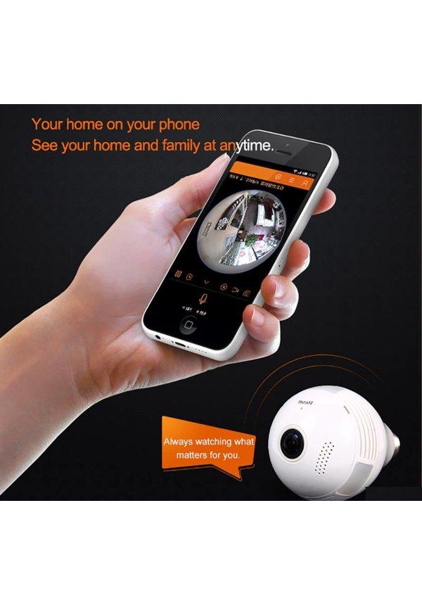 3G / 4G sim Lamp met verborgen IP CAMERA