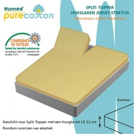Homee Splittopper Hoeslaken Jersey Supreme Stretch - Bamboo - (180x200/210/220+15cm)