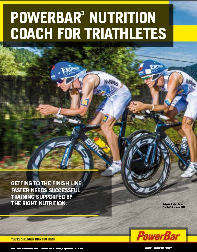Powerbar voedingsadvieskaart Triatleten