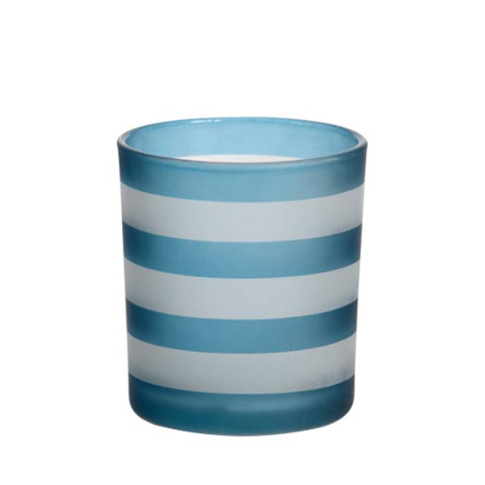 Yankee Candle Yankee Candle - Coastal Stripe Dark Blue Votive Holder