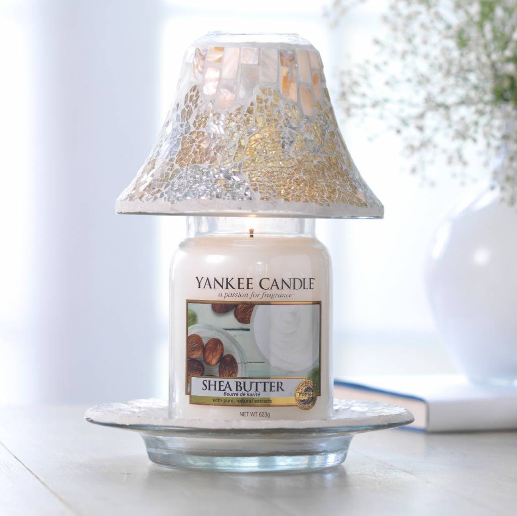 Yankee Candle Yankee Candle - Gold & Pearl Cracklé Large Shade & Tray