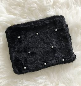 PEARLY FLUFF BAG - BLACK