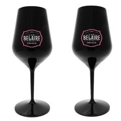 Luc Belaire Rosé Black Bottle glazen