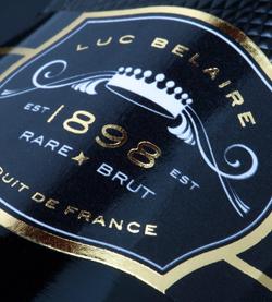 Jaartal 1898 op elke fles Luc Belaire wijn