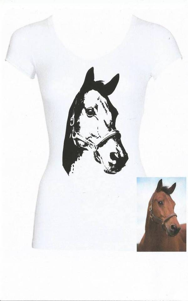 Cutiezz shirt met eigen paard