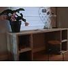 """""""Seiland"""" Schreibtisch aus Bauholz mit Fächern"""
