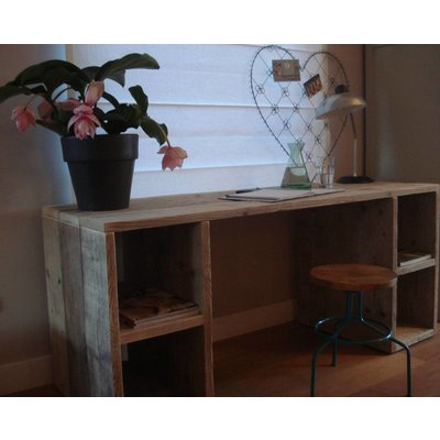 """""""Seiland"""" Bauholz Schreibtisch mit Fächern"""