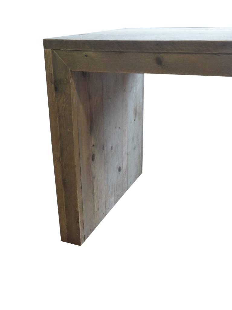 Lund bauholz tisch mit geschlossenen seiten pure wood for Tisch design wood