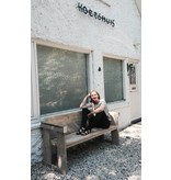 """Lauvstad Garten"" Bank aus Bauholz"