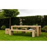 """""""Hamar Garten"""" Bauholz Tisch"""