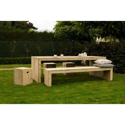 """""""Lund Garten"""" Tisch aus Bauholz mit dichten Seiten"""